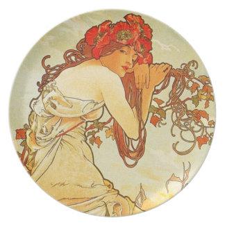 Alphonse Mucha Summer Plate