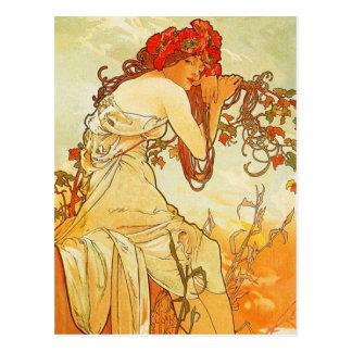 Alphonse Mucha Summer Postcard