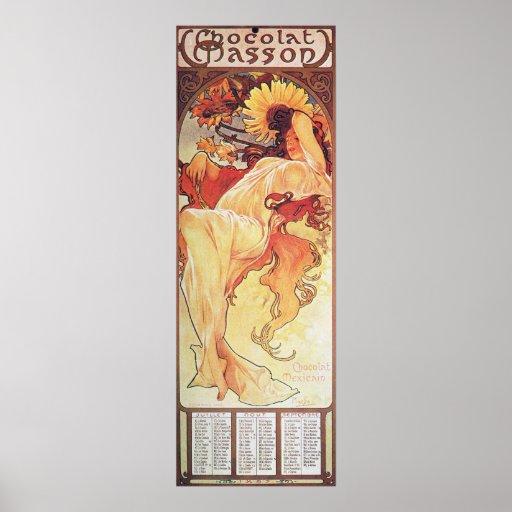 Alphonse Mucha Sunflower Poster
