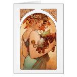 Alphonse Mucha - The Fruits Card