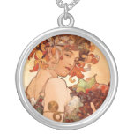 Alphonse Mucha - The Fruits Personalized Necklace
