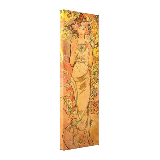 Alphonse Mucha The Rose Canvas Poster