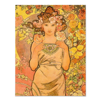 Alphonse Mucha The Rose Invitations