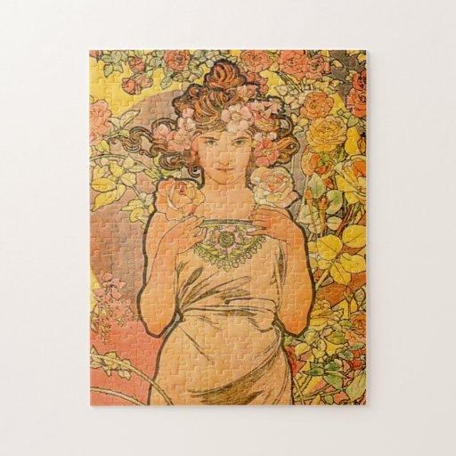 Alphonse Mucha The Rose Puzzle
