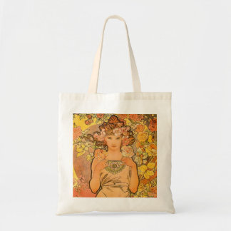 Alphonse Mucha The Rose Tote Bag