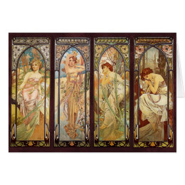 Alphonse Mucha, The Times of the Day Card