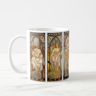 Alphonse Mucha, The Times of the Day Coffee Mug