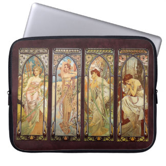 Alphonse Mucha, The Times of the Day Computer Sleeve