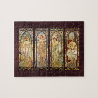 Alphonse Mucha, The Times of the Day Jigsaw Puzzle