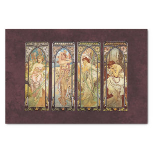 Alphonse Mucha, The Times of the Day Tissue Paper