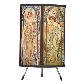 Alphonse Mucha, The Times of the Day Tripod Lamp