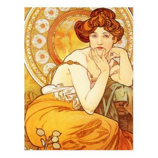 Alphonse Mucha Topaz Postcard