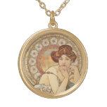 Alphonse Mucha Topaz woman print Jewelry
