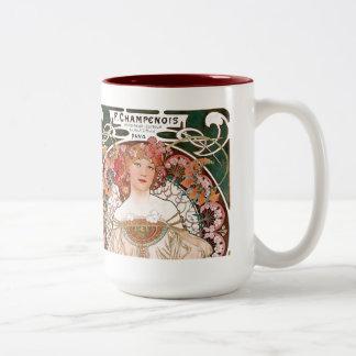 Alphonse Mucha Two-Tone Coffee Mug