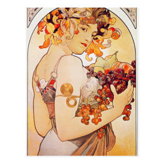 Alphonse Mucha Vintage Art Postcard