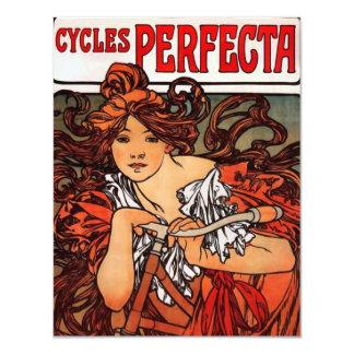 Alphonse Mucha Vintage Bicycle Invitations