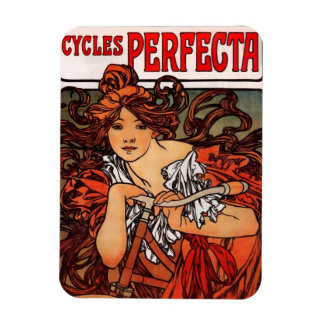 Alphonse Mucha Vintage Bicycle Magnet