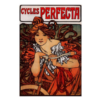 Alphonse Mucha Vintage Bicycle Poster