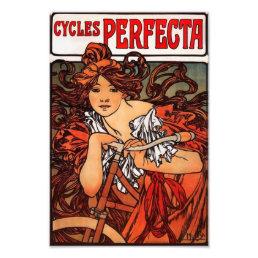 Alphonse Mucha Vintage Bicycle Print