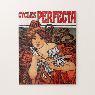 Alphonse Mucha Vintage Bicycle Puzzle