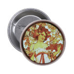 Alphonse Mucha - White Star Pinback Buttons