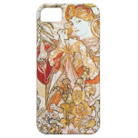 Alphonse Mucha Woman with a Daisy iPhone 5 Case