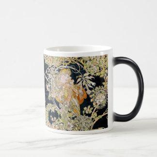"""Alphonse Mucha, """"Woman with a Daisy"""" Magic Mug"""