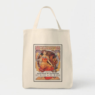 Alphonse Mucha -  World's Fair 1904  St. Louis Grocery Tote Bag