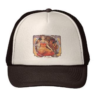 Alphonse Mucha -  World's Fair 1904  St. Louis Trucker Hats