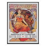Alphonse Mucha -  World's Fair 1904  St. Louis Poster