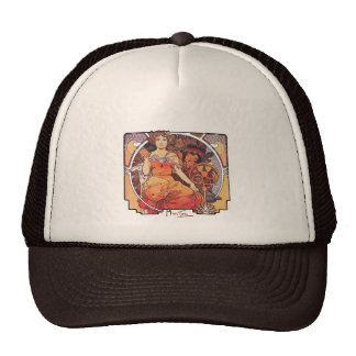 Alphonse Mucha -  World's Fair 1904  St. Louis Trucker Hat