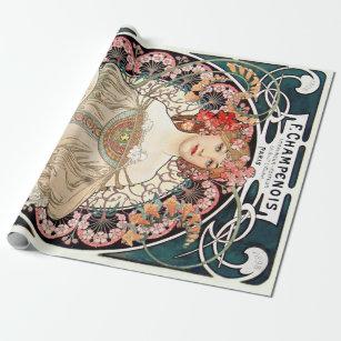 Alphonse Mucha Wrapping Paper