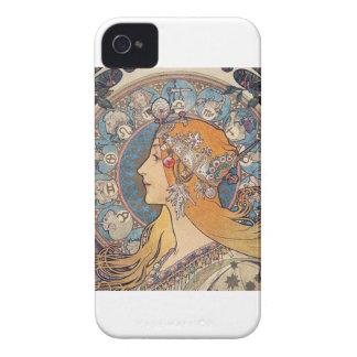 """Alphonse Mucha, """"Zodiac"""" iPhone 4 Case-Mate Case"""