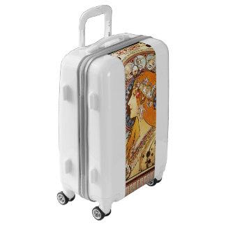 Alphonse Mucha Zodiac Luggage Suitcase