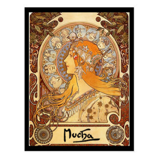 Alphonse Mucha - Zodiac Postcard