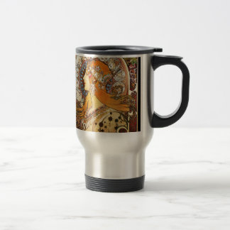 Alphonse Mucha Zodiac Travel Mug