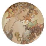 Alphonse Mucha's Fruit Plate