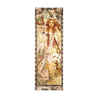 Alphonse Mucha's Maude Adams as Joan of Arc Canvas Print