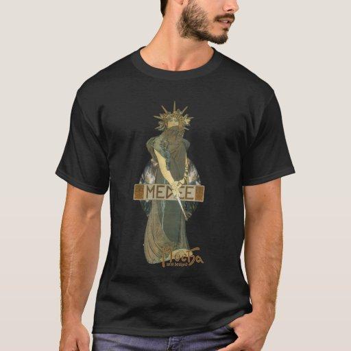 Alphonse Muchas Medee (1898) Dark T-Shirt