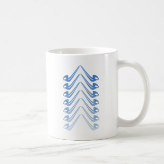 Alphorn Chevron - Oktoberfest Blue Coffee Mug