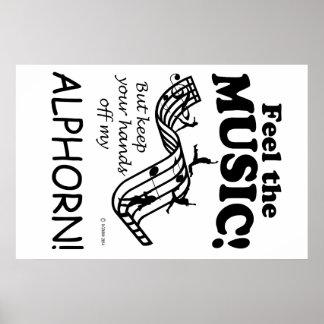 Alphorn Feel The Music Poster