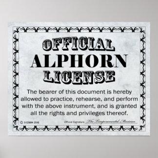 Alphorn License Poster