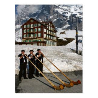 Alphorn Musicians In Kleine Scheidegg Switzerland Postcard