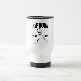 Alphorn Play Boy Travel Mug