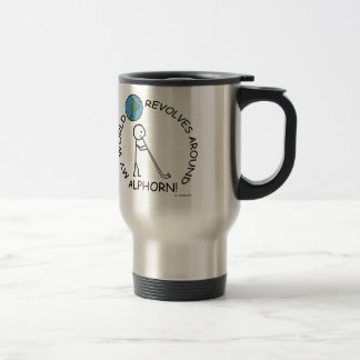Alphorn - World Revolves Around Travel Mug