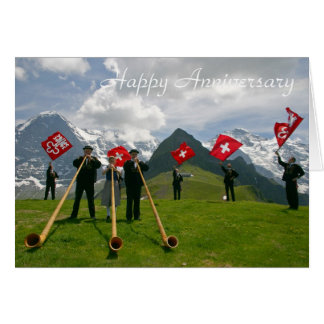 Alphorns anniversary card
