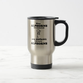 Alphorns Outlawed Travel Mug