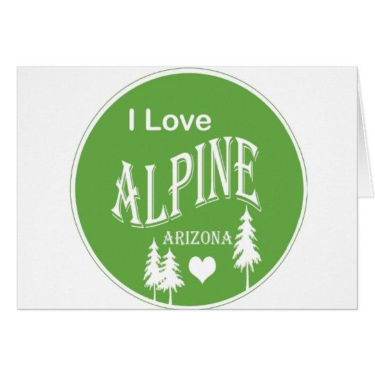 Alpine Arizona Card