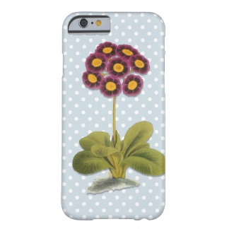 Alpine Auricula Flower, Purple Floral, Polka Dots Barely There iPhone 6 Case