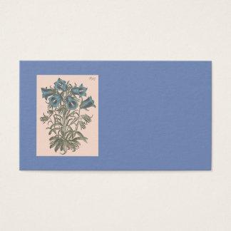 Alpine Bell Flower Botanical Illustration Business Card